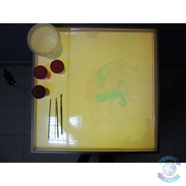 """Стол для рисования песком и водой """"Радужная волна"""" (2 кг песка в к-те, краски в к-т не входят) СП"""
