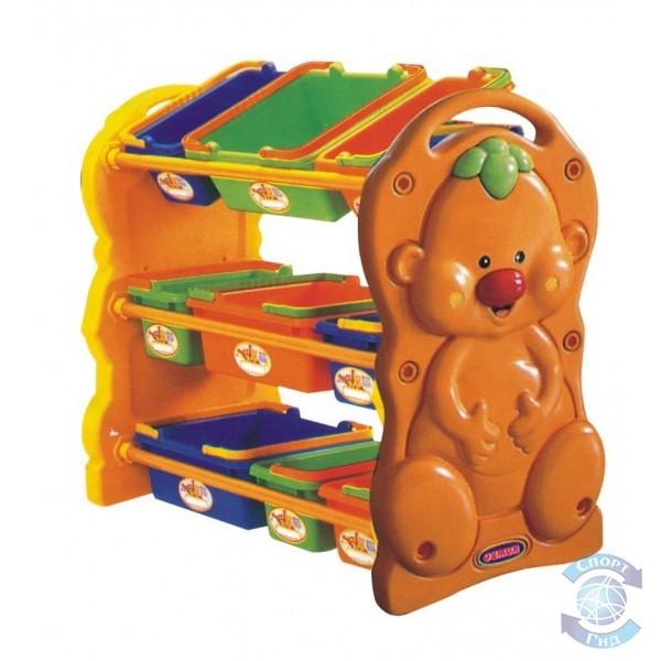Стеллаж ПЛ для игрушек с выдвижными ящиками