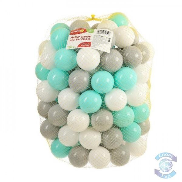 Шарик для бассейна, цветной, фасовка-150шт
